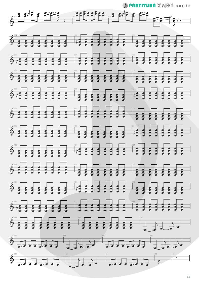 Partitura de musica de Guitarra Elétrica - Quatro Vezes Você | Capital Inicial | Rosas e Vinho Tinto 2002 - pag 3