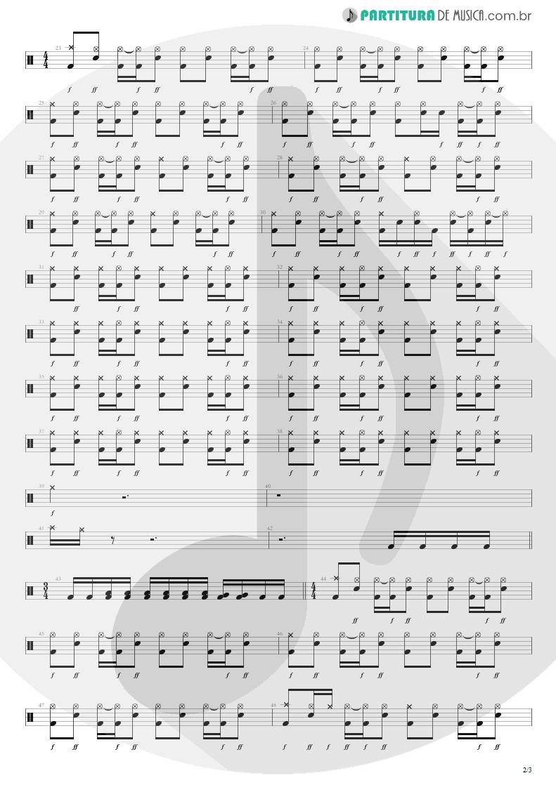 Partitura de musica de Bateria - Respirar Você | Capital Inicial | Gigante! 2004 - pag 2