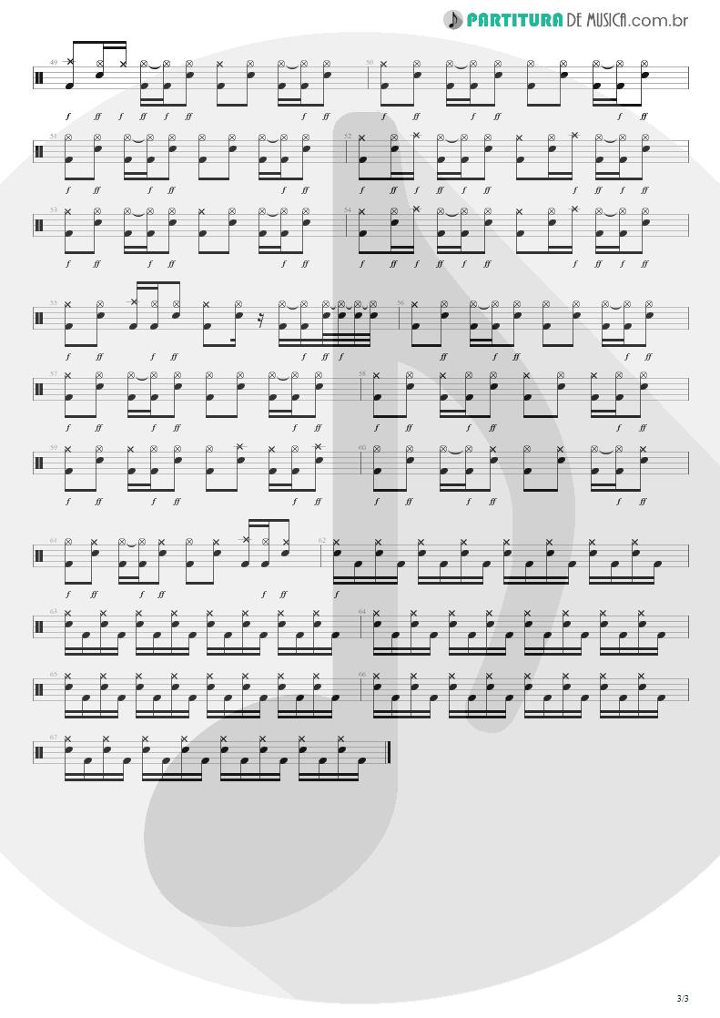 Partitura de musica de Bateria - Respirar Você | Capital Inicial | Gigante! 2004 - pag 3