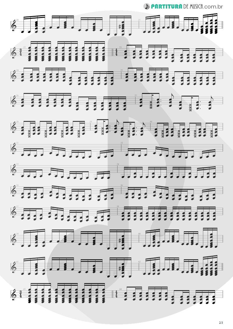 Partitura de musica de Guitarra Elétrica - Respirar Você | Capital Inicial | Gigante! 2004 - pag 2