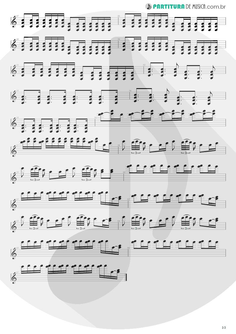 Partitura de musica de Guitarra Elétrica - Respirar Você | Capital Inicial | Gigante! 2004 - pag 3