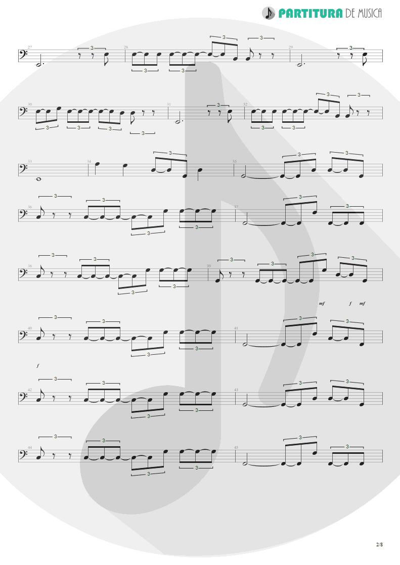 Partitura de musica de Baixo Elétrico - Quinta-Feira | Charlie Brown Jr. | Transpiração Contínua Prolongada 1997 - pag 2