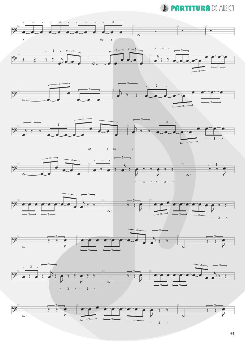 Partitura de musica de Baixo Elétrico - Quinta-Feira | Charlie Brown Jr. | Transpiração Contínua Prolongada 1997 - pag 4