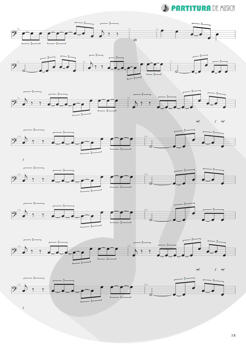 Partitura de musica de Baixo Elétrico - Quinta-Feira | Charlie Brown Jr. | Transpiração Contínua Prolongada 1997 - pag 5