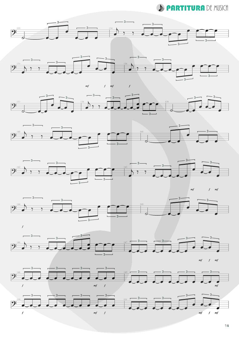 Partitura de musica de Baixo Elétrico - Quinta-Feira | Charlie Brown Jr. | Transpiração Contínua Prolongada 1997 - pag 7