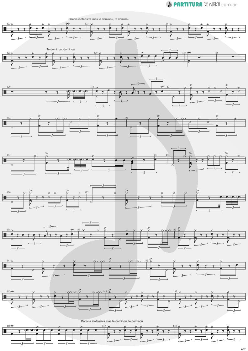 Partitura de musica de Bateria - Quinta-Feira | Charlie Brown Jr. | Transpiração Contínua Prolongada 1997 - pag 6