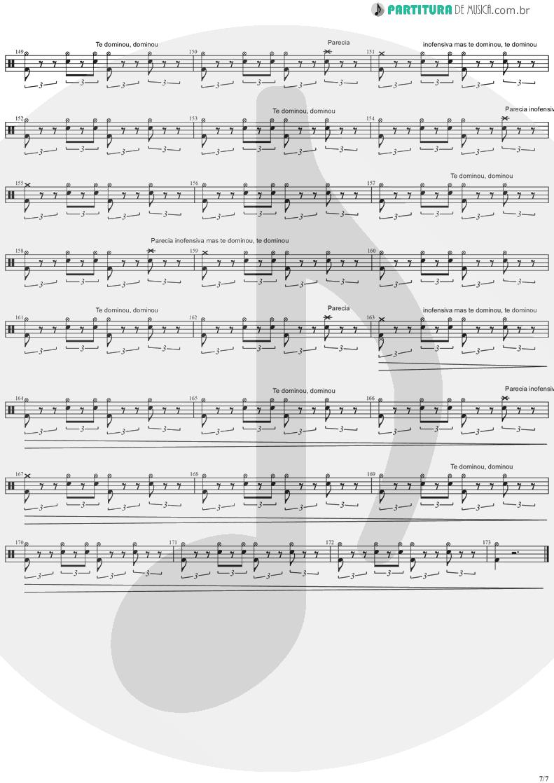 Partitura de musica de Bateria - Quinta-Feira | Charlie Brown Jr. | Transpiração Contínua Prolongada 1997 - pag 7