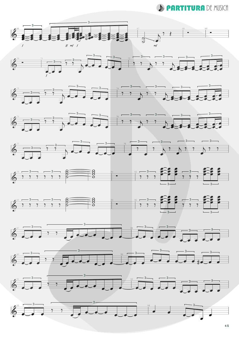 Partitura de musica de Guitarra Elétrica - Quinta-Feira   Charlie Brown Jr.   Transpiração Contínua Prolongada 1997 - pag 4