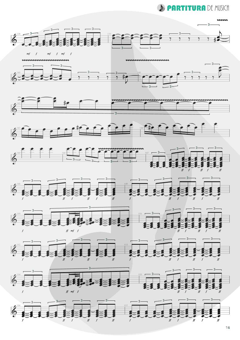 Partitura de musica de Guitarra Elétrica - Quinta-Feira   Charlie Brown Jr.   Transpiração Contínua Prolongada 1997 - pag 7