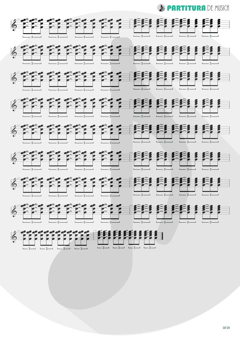 Partitura de musica de Guitarra Elétrica - Quinta-Feira   Charlie Brown Jr.   Transpiração Contínua Prolongada 1997 - pag 10