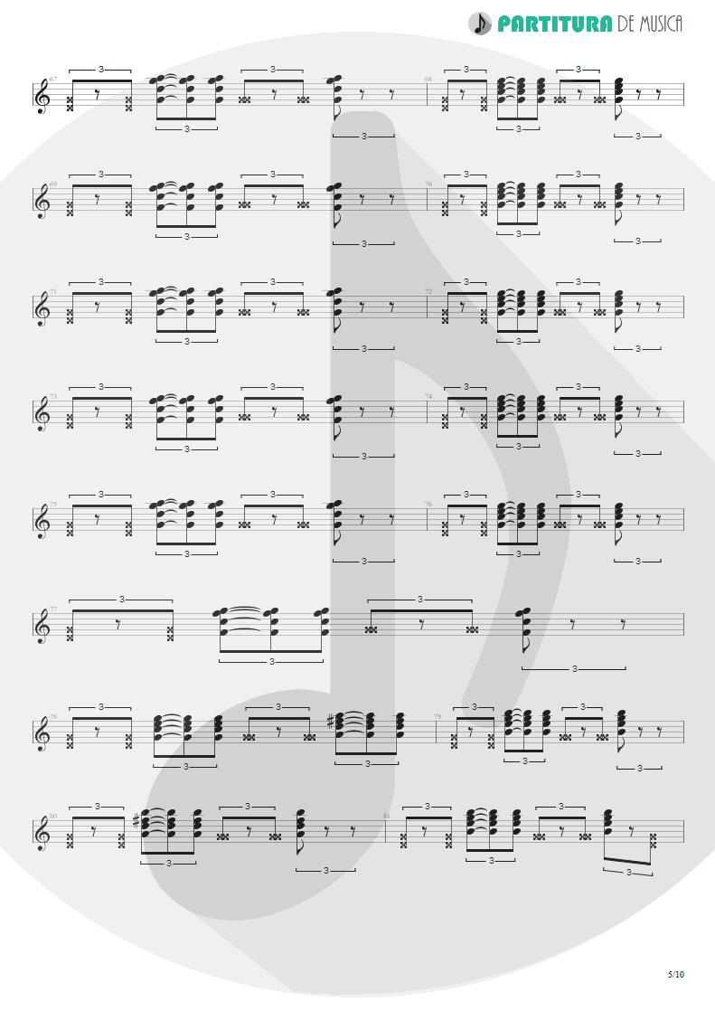 Partitura de musica de Guitarra Elétrica - Quinta-Feira   Charlie Brown Jr.   Transpiração Contínua Prolongada 1997 - pag 5