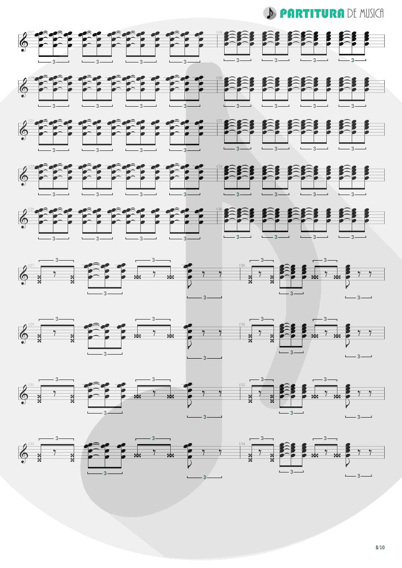 Partitura de musica de Guitarra Elétrica - Quinta-Feira   Charlie Brown Jr.   Transpiração Contínua Prolongada 1997 - pag 8