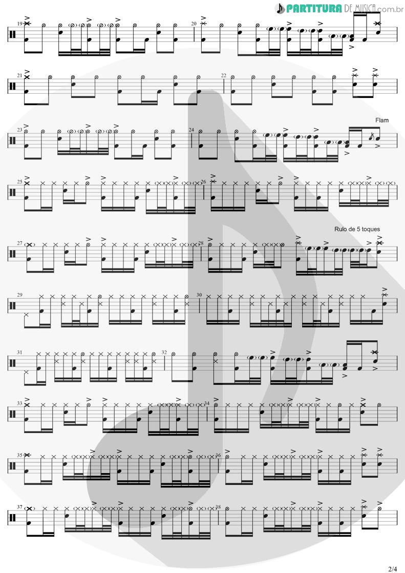 Partitura de musica de Bateria - Zóio de Lula | Charlie Brown Jr. | Preço Curto... Prazo Longo 1999 - pag 2