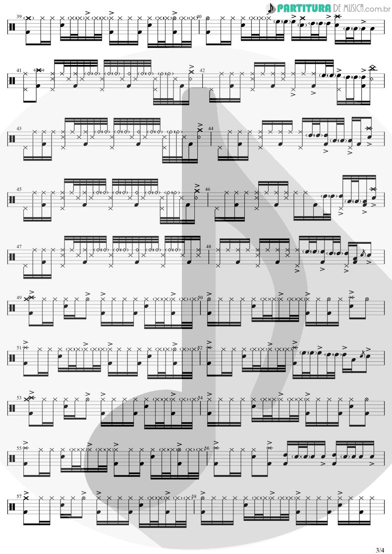 Partitura de musica de Bateria - Zóio de Lula | Charlie Brown Jr. | Preço Curto... Prazo Longo 1999 - pag 3