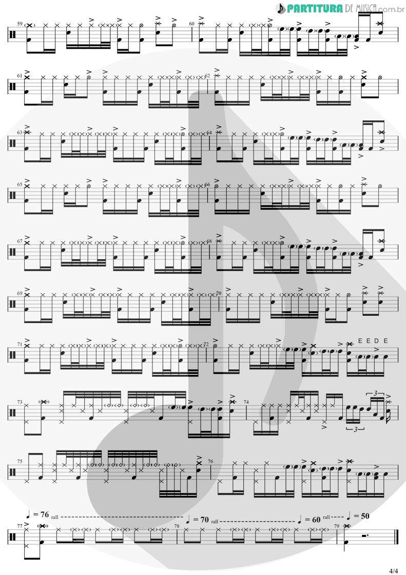Partitura de musica de Bateria - Zóio de Lula | Charlie Brown Jr. | Preço Curto... Prazo Longo 1999 - pag 4