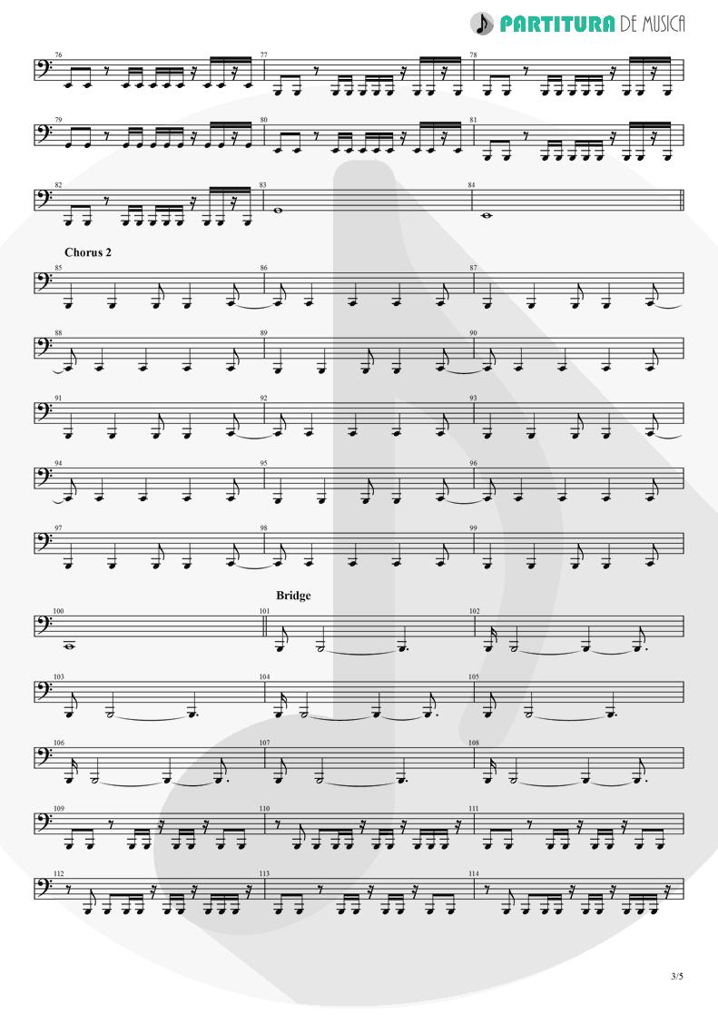 Partitura de musica de Baixo Elétrico - Another Day   Dagoba   Dagoba 2003 - pag 3