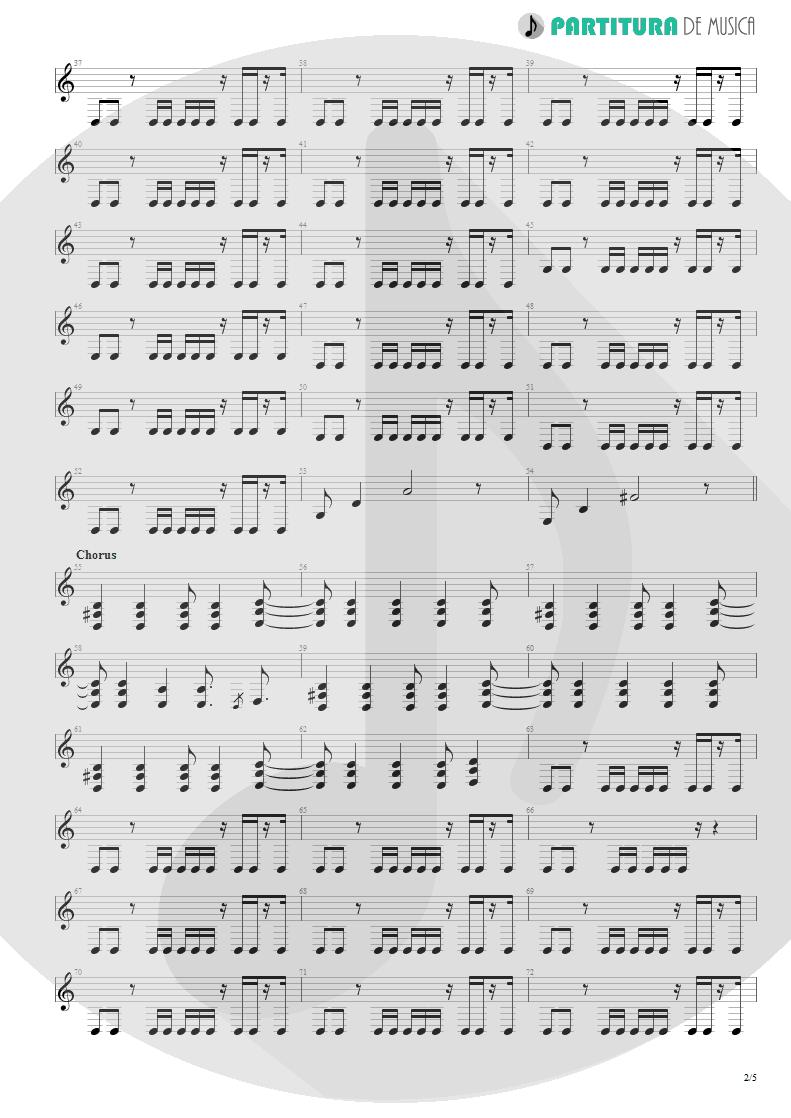 Partitura de musica de Guitarra Elétrica - Another Day | Dagoba | Dagoba 2003 - pag 2