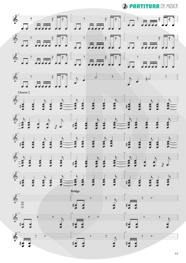 Partitura de musica de Guitarra Elétrica - Another Day | Dagoba | Dagoba 2003 - pag 3
