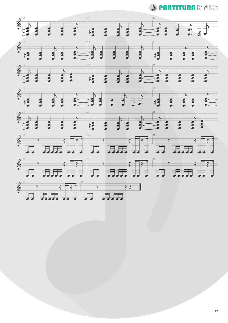 Partitura de musica de Guitarra Elétrica - Another Day | Dagoba | Dagoba 2003 - pag 5