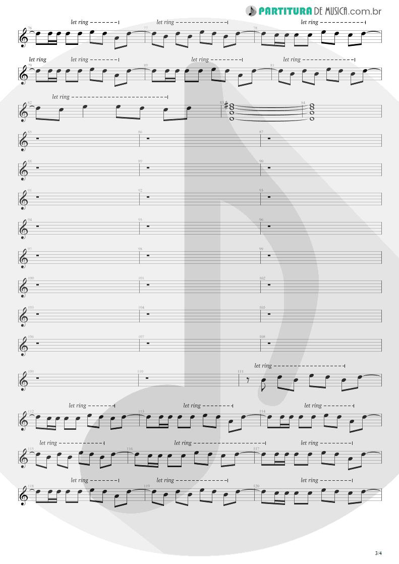 Partitura de musica de Guitarra Elétrica - Hysteria | Def Leppard | Hysteria 1987 - pag 3