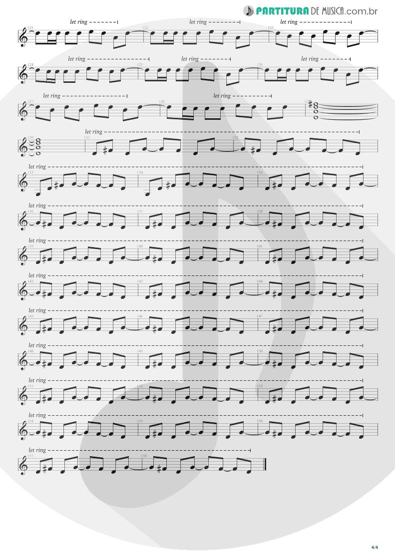 Partitura de musica de Guitarra Elétrica - Hysteria | Def Leppard | Hysteria 1987 - pag 4