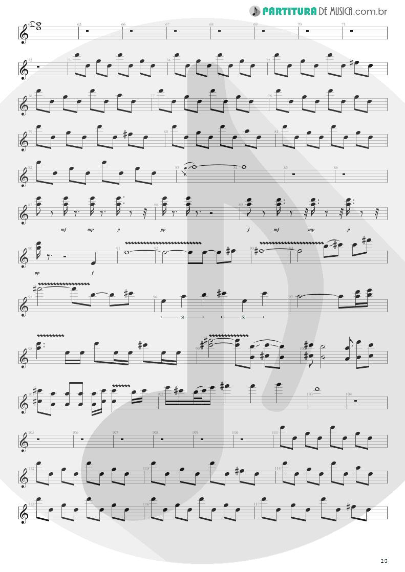 Partitura de musica de Guitarra Elétrica - Hysteria | Def Leppard | Hysteria 1987 - pag 2