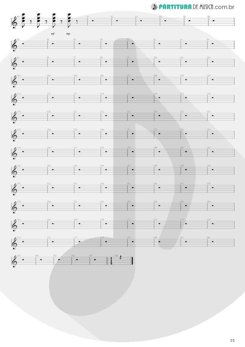 Partitura de musica de Teclado - Love Bites   Def Leppard   Hysteria 1987 - pag 2