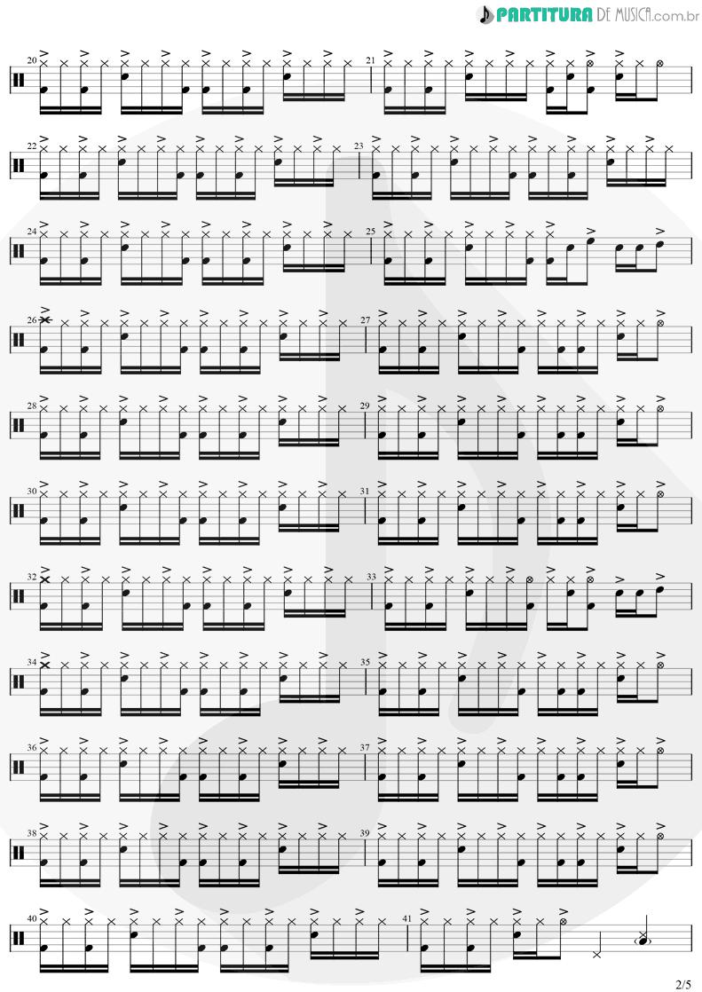 Partitura de musica de Bateria - Eu Te Devoro | Djavan | Bicho Solto 1998 - pag 2