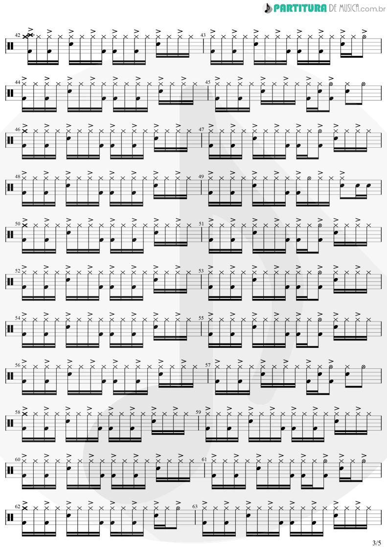 Partitura de musica de Bateria - Eu Te Devoro | Djavan | Bicho Solto 1998 - pag 3