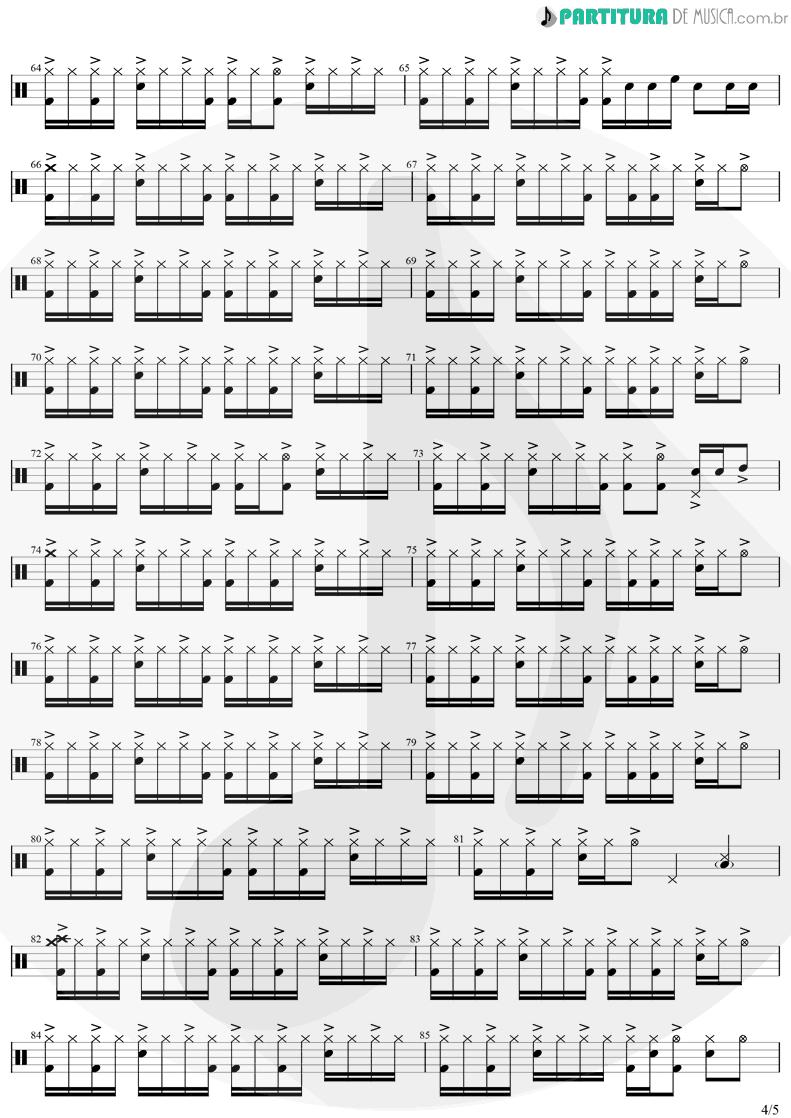 Partitura de musica de Bateria - Eu Te Devoro | Djavan | Bicho Solto 1998 - pag 4