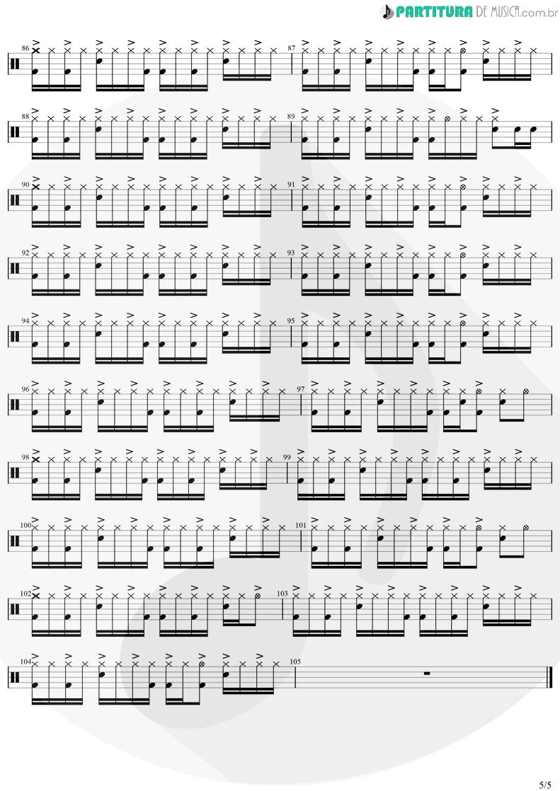 Partitura de musica de Bateria - Eu Te Devoro | Djavan | Bicho Solto 1998 - pag 5