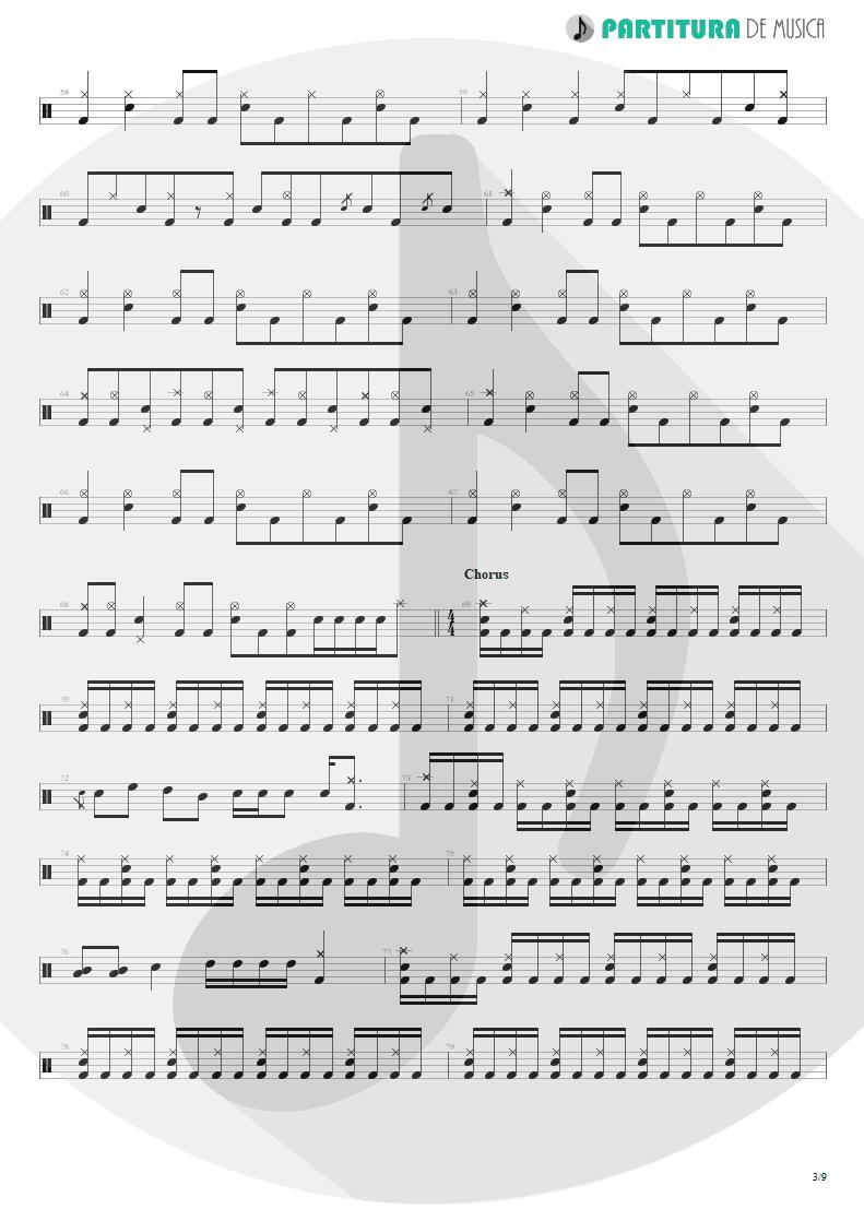 Partitura de musica de Bateria - Under A Glass Moon | Dream Theater | Images and Words 1992 - pag 3