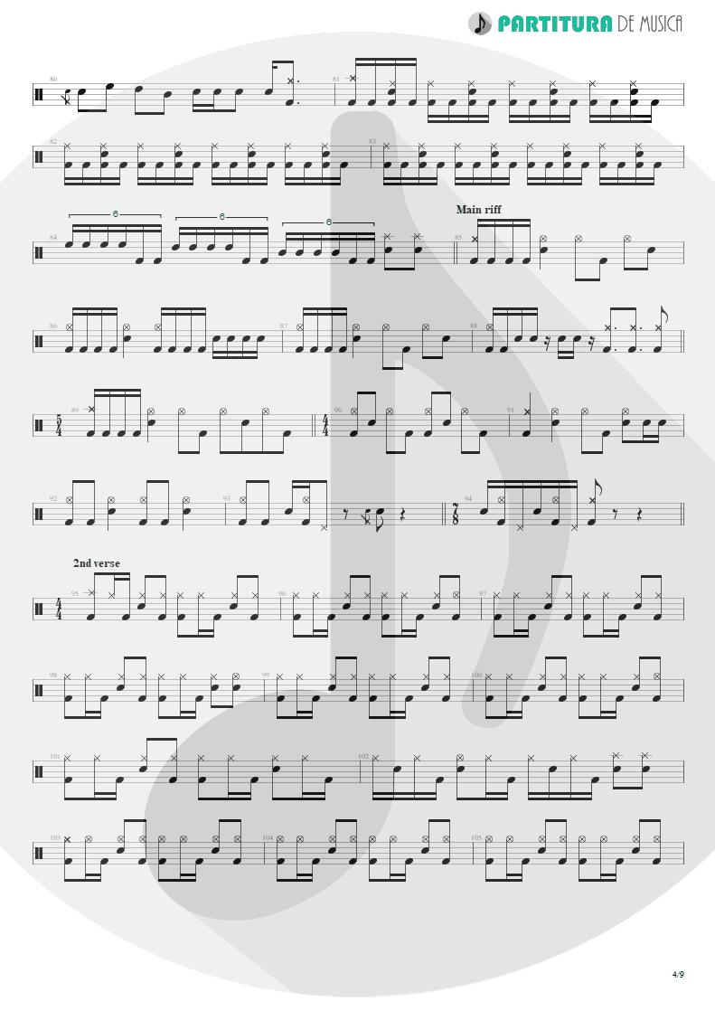 Partitura de musica de Bateria - Under A Glass Moon | Dream Theater | Images and Words 1992 - pag 4