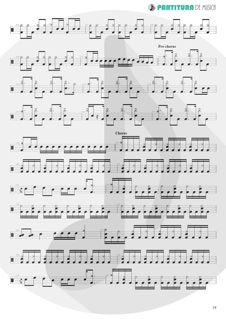 Partitura de musica de Bateria - Under A Glass Moon | Dream Theater | Images and Words 1992 - pag 5