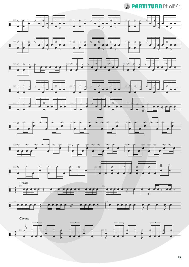 Partitura de musica de Bateria - Under A Glass Moon | Dream Theater | Images and Words 1992 - pag 8