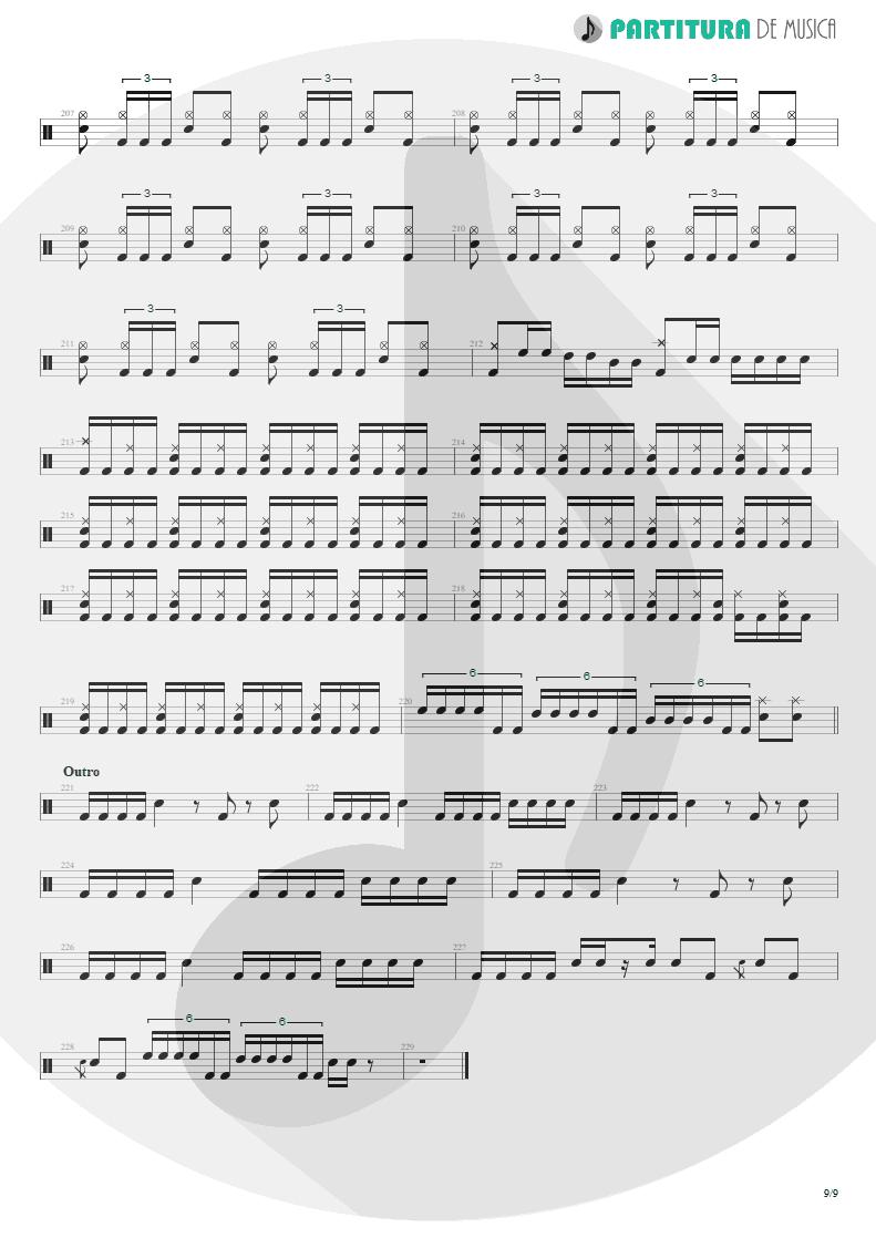 Partitura de musica de Bateria - Under A Glass Moon | Dream Theater | Images and Words 1992 - pag 9