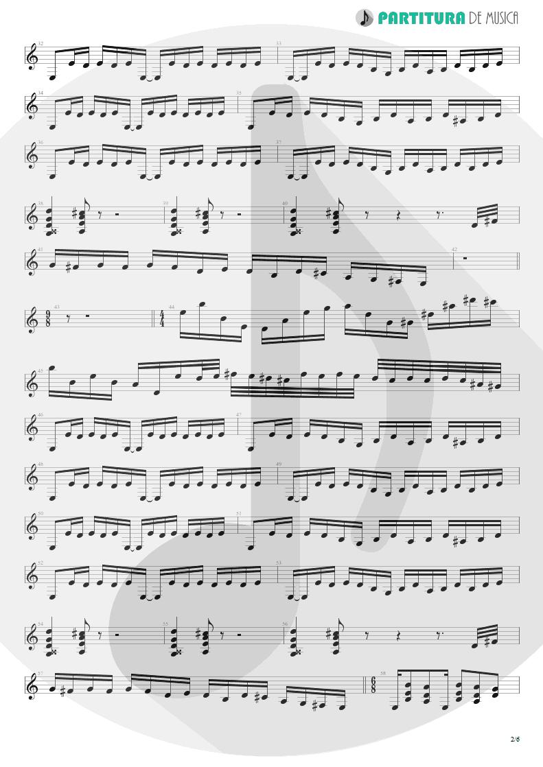 Partitura de musica de Guitarra Elétrica - 6:00 | Dream Theater | Awake 1994 - pag 2