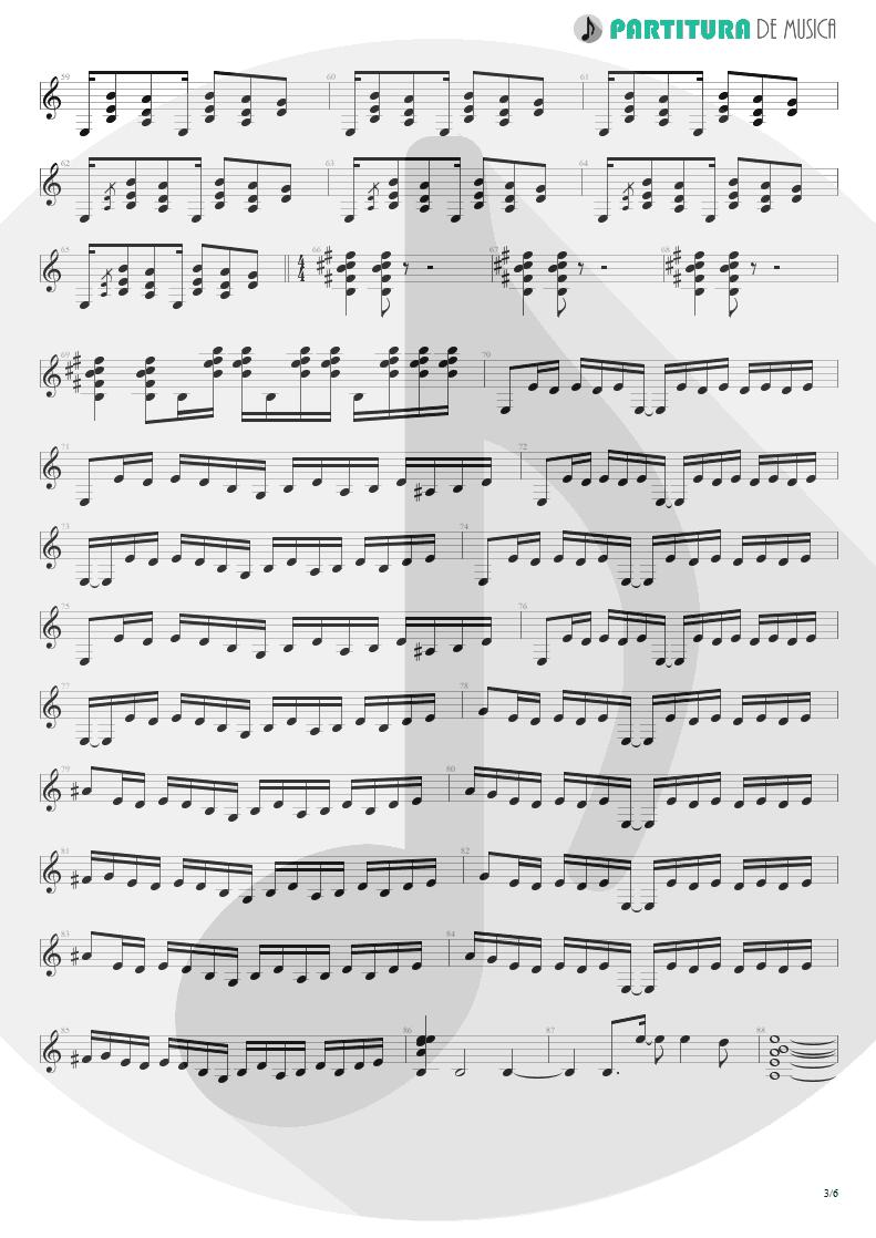 Partitura de musica de Guitarra Elétrica - 6:00 | Dream Theater | Awake 1994 - pag 3