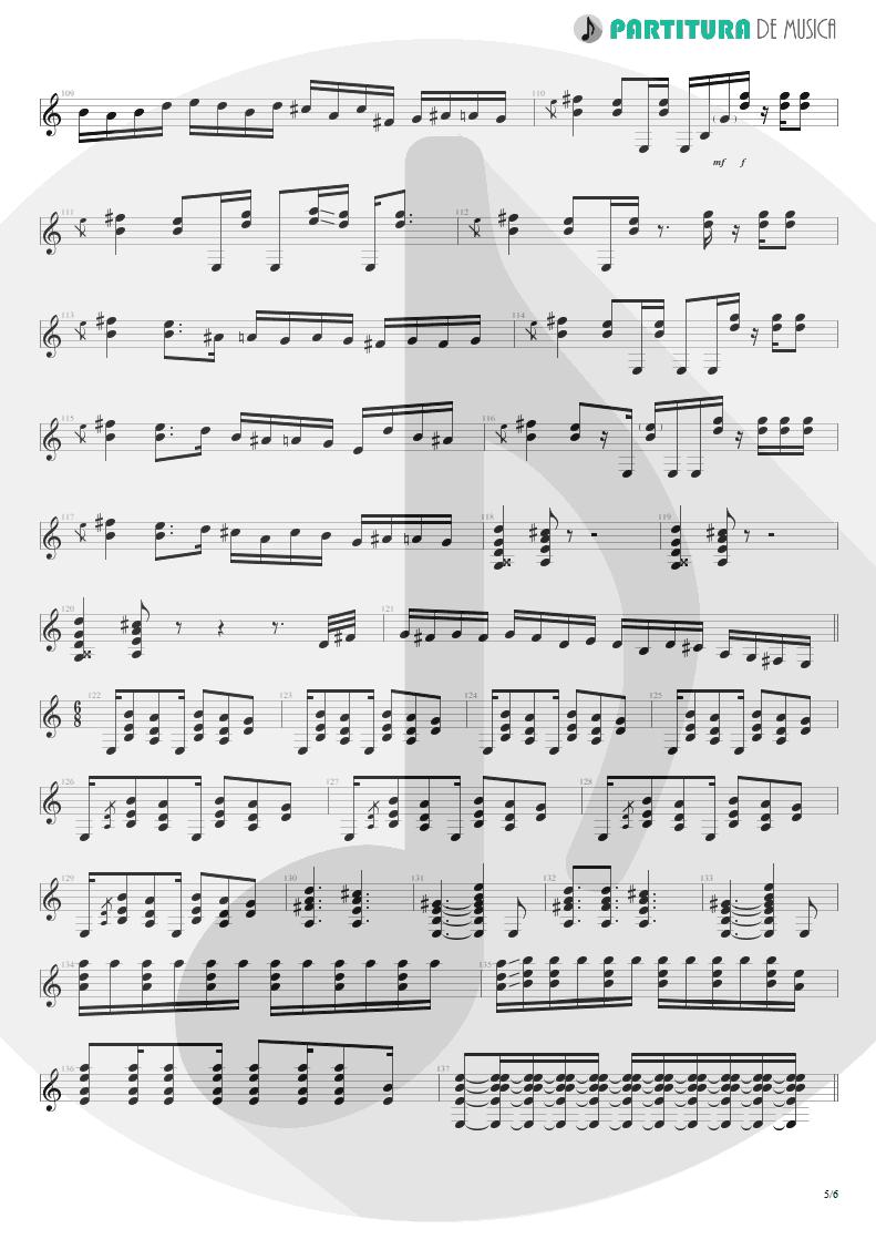Partitura de musica de Guitarra Elétrica - 6:00 | Dream Theater | Awake 1994 - pag 5