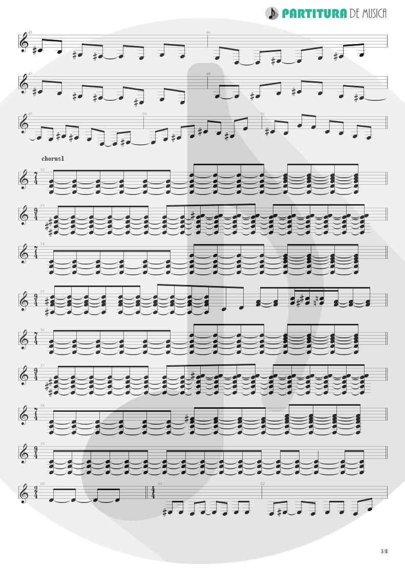 Partitura de musica de Guitarra Elétrica - Caught In A Web   Dream Theater   Awake 1994 - pag 3
