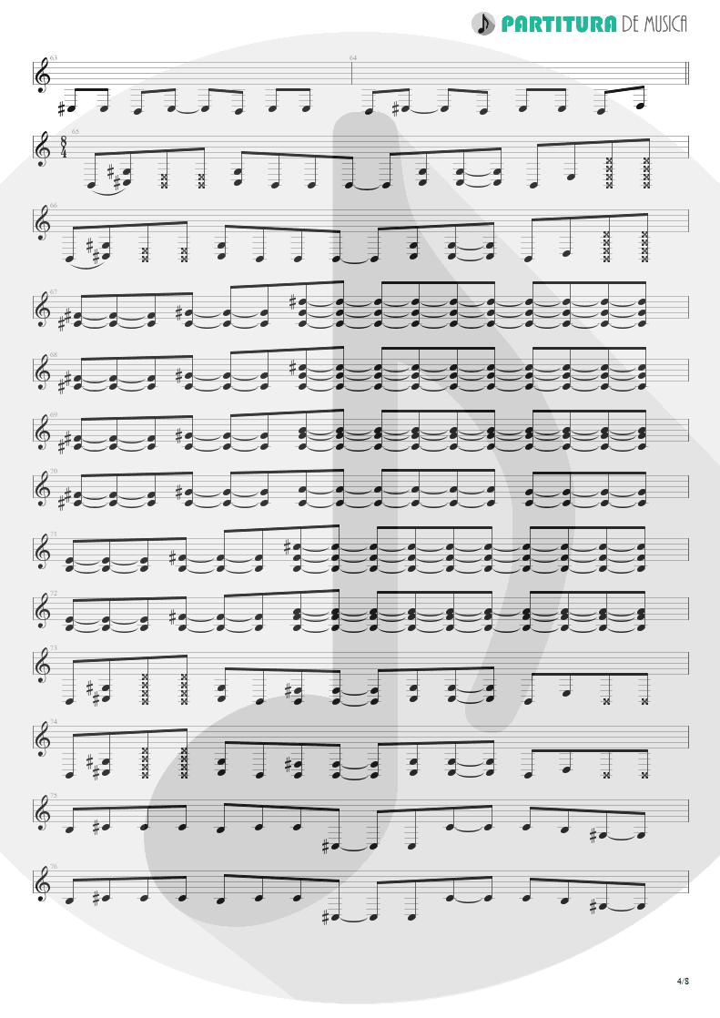 Partitura de musica de Guitarra Elétrica - Caught In A Web   Dream Theater   Awake 1994 - pag 4