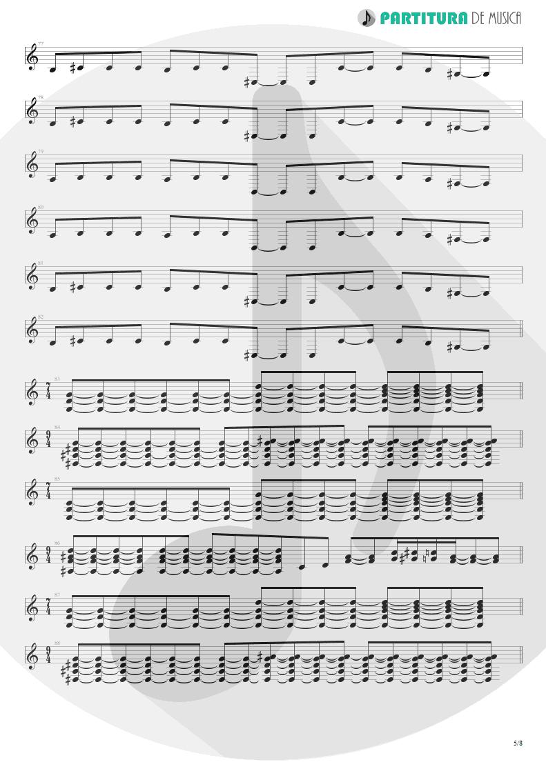 Partitura de musica de Guitarra Elétrica - Caught In A Web   Dream Theater   Awake 1994 - pag 5