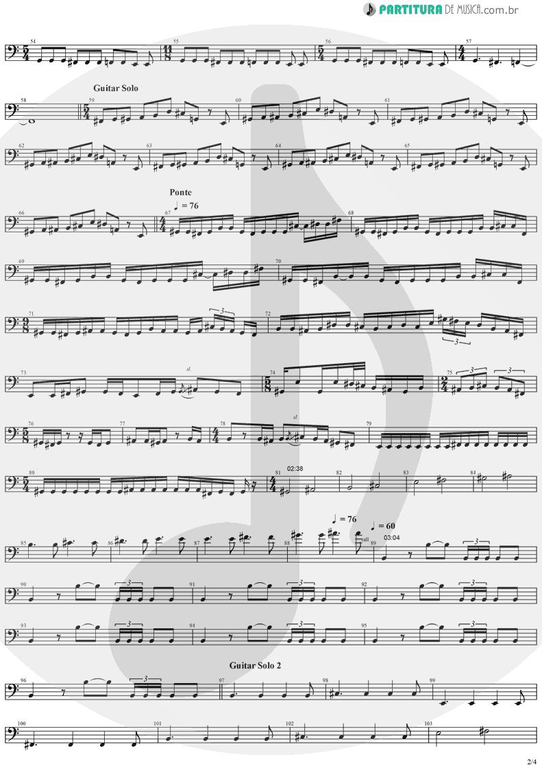 Partitura de musica de Baixo Elétrico - Erotomania | Dream Theater | Awake 1994 - pag 2