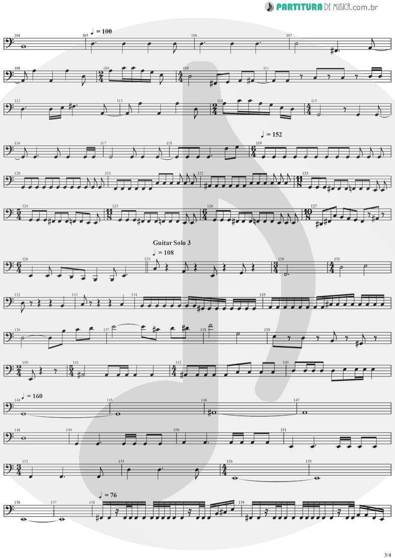 Partitura de musica de Baixo Elétrico - Erotomania | Dream Theater | Awake 1994 - pag 3