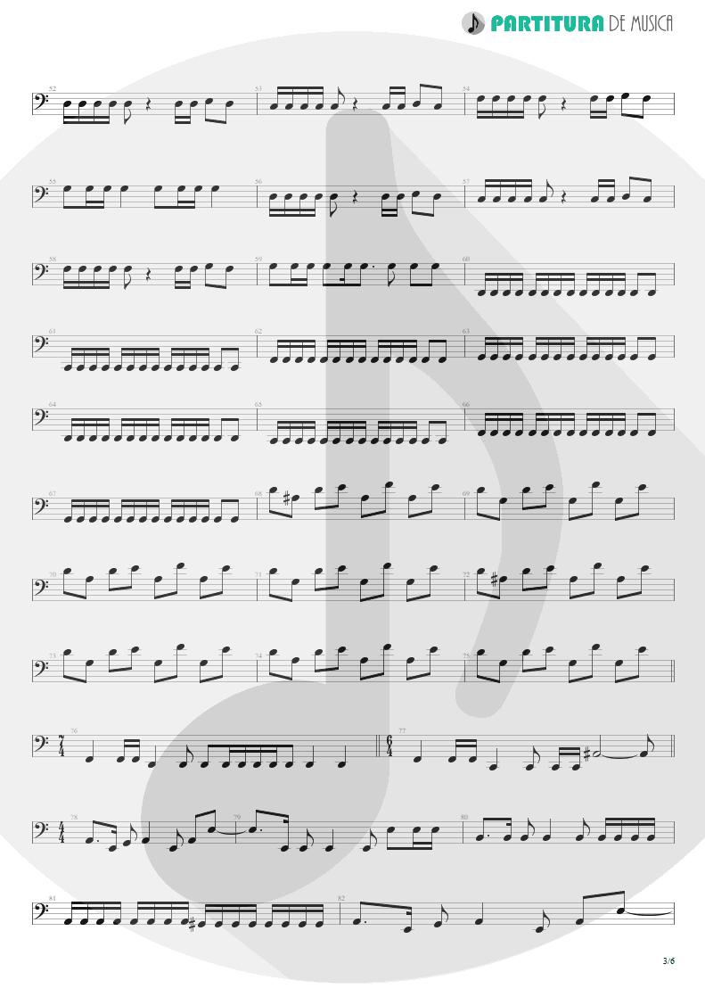 Partitura de musica de Baixo Elétrico - Innocence Faded | Dream Theater | Awake 1994 - pag 3