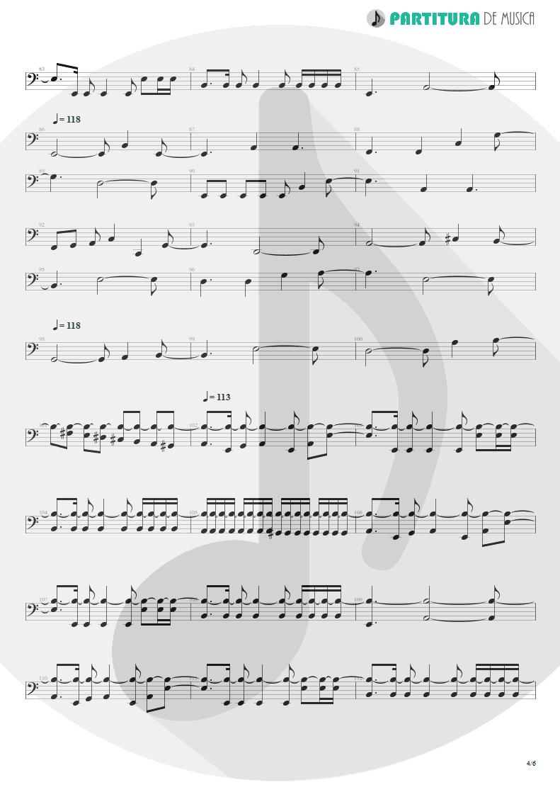 Partitura de musica de Baixo Elétrico - Innocence Faded | Dream Theater | Awake 1994 - pag 4