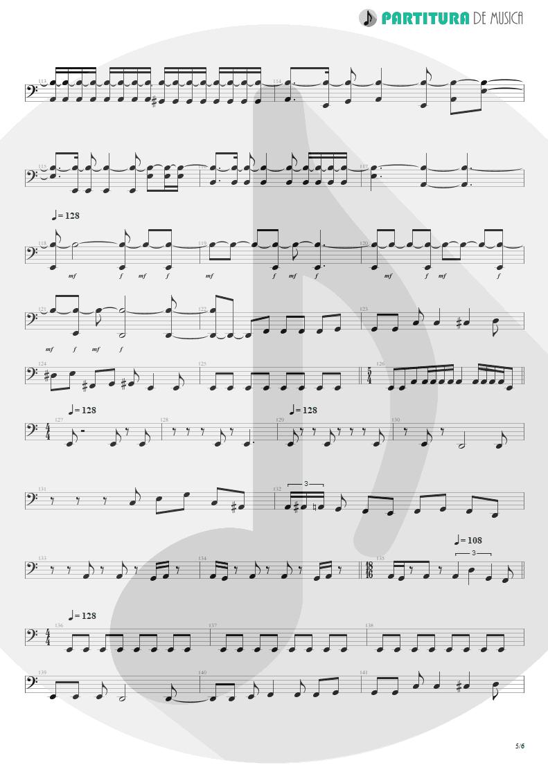 Partitura de musica de Baixo Elétrico - Innocence Faded | Dream Theater | Awake 1994 - pag 5