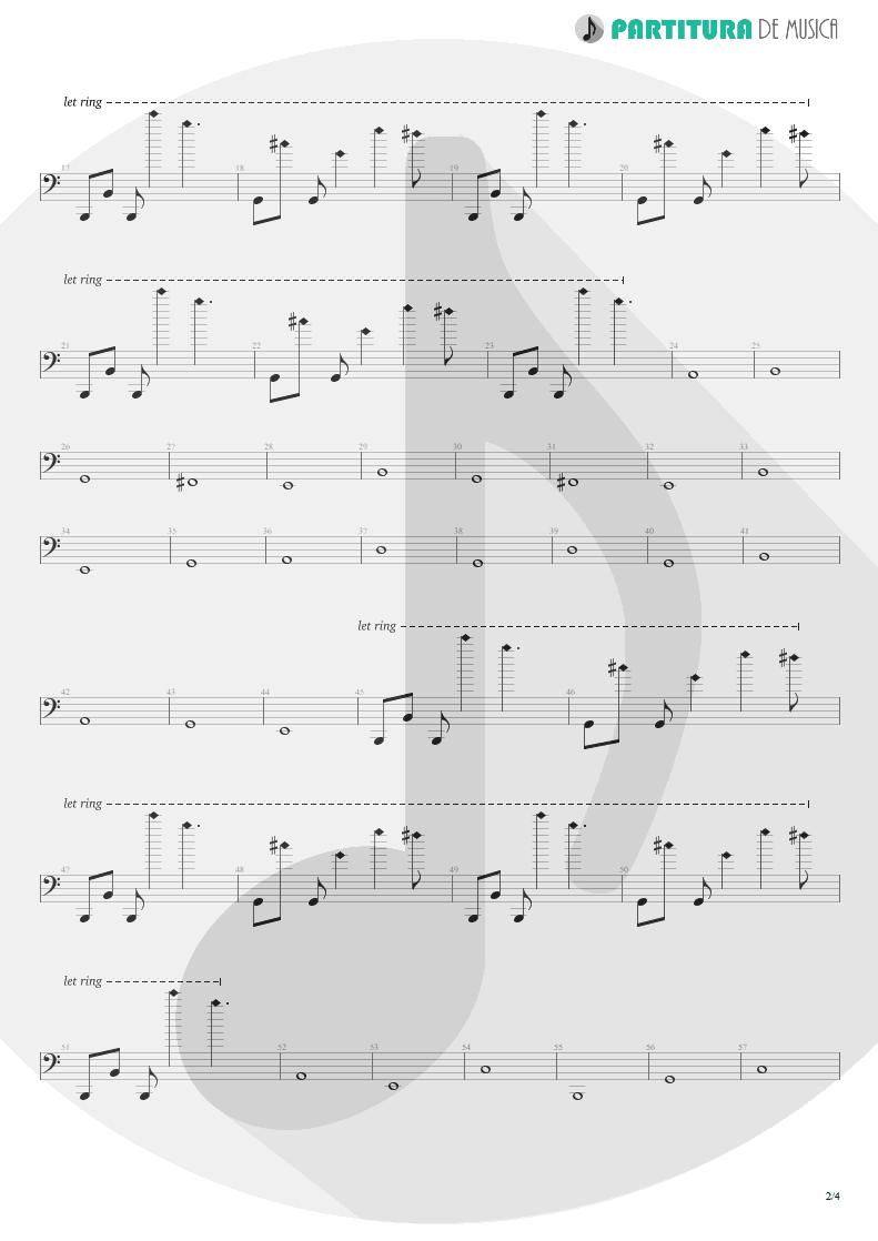 Partitura de musica de Baixo Elétrico - Lifting Shadows Off A Dream | Dream Theater | Awake 1994 - pag 2