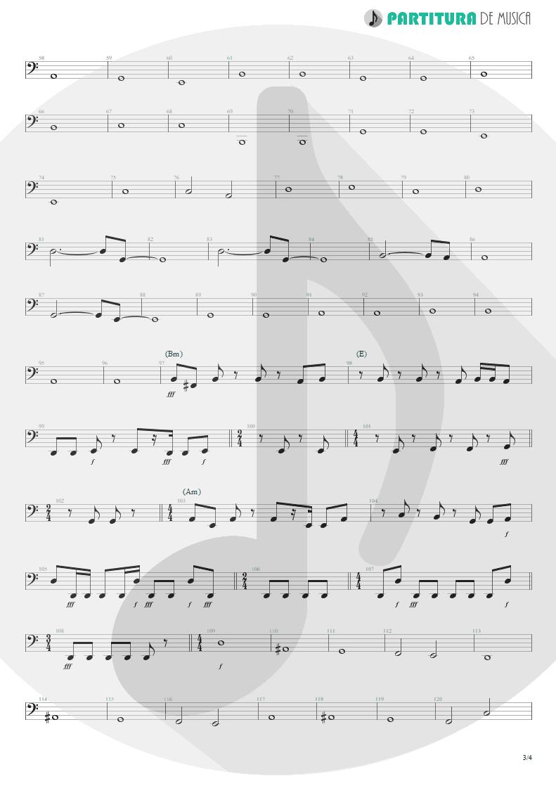 Partitura de musica de Baixo Elétrico - Lifting Shadows Off A Dream | Dream Theater | Awake 1994 - pag 3