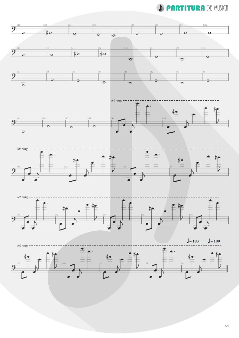 Partitura de musica de Baixo Elétrico - Lifting Shadows Off A Dream | Dream Theater | Awake 1994 - pag 4
